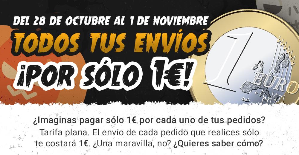 Tarifa plana de envíos durante Halloween por sólo 1€