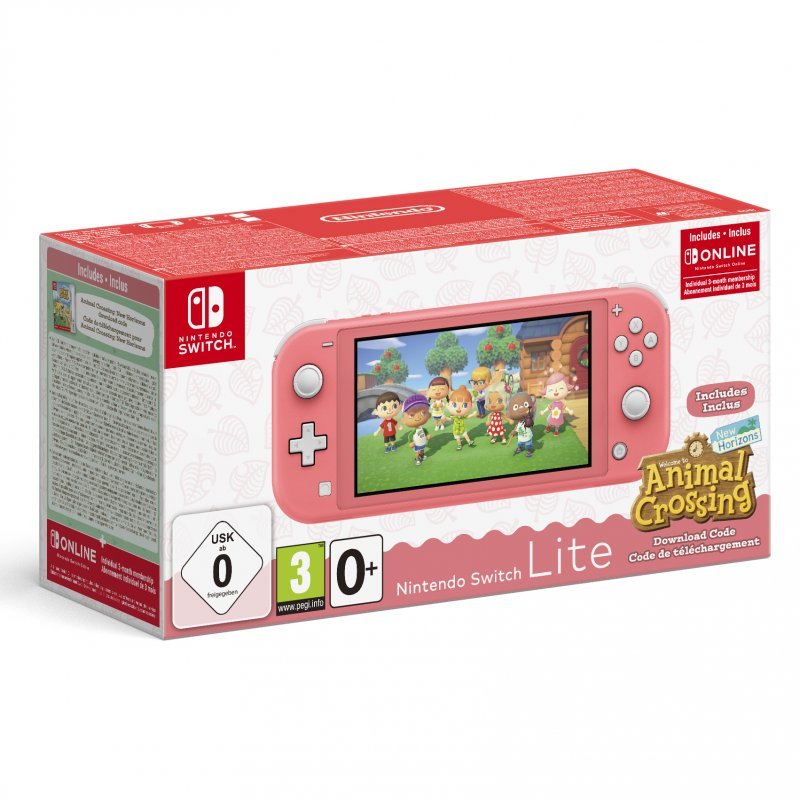 Nintendo Switch Lite Coral + Animal Crossing: New Horizons