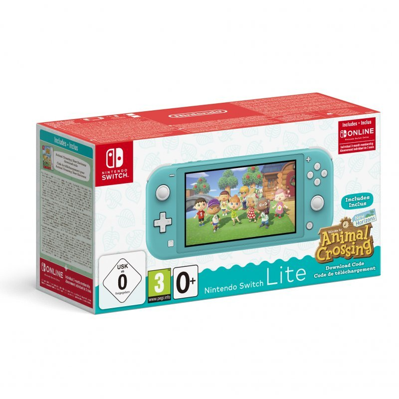 Nintendo Switch Lite Turquesa + Animal Crossing: New Horizons