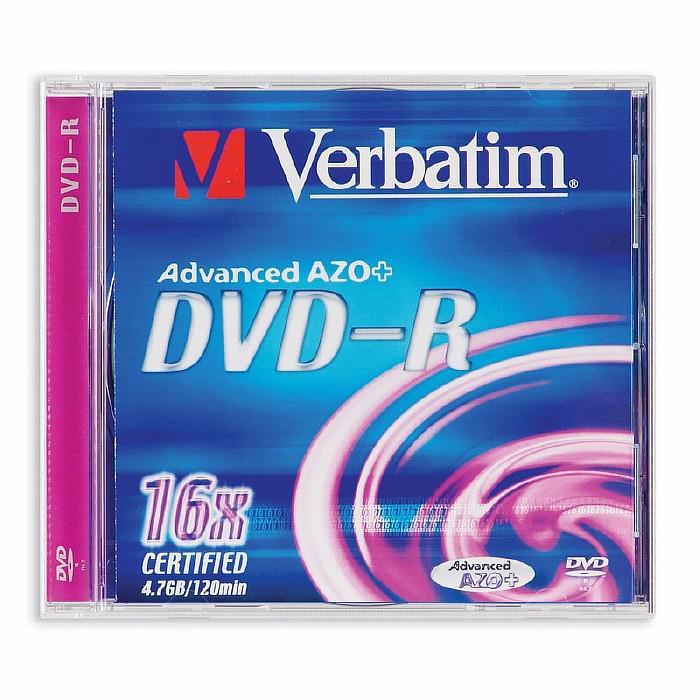 DVD-R 16x Verbatim Advanced Azo+ Caja Jewel 1 uds