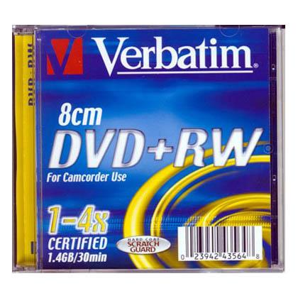 Mini DVD+RW 4x Verbatim 8cms