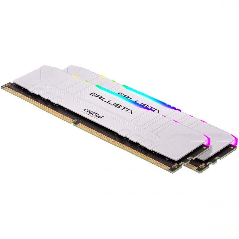 Memoria RAM Crucial Ballistix RGB 16GB (2 x 8GB) DDR4 3200MHz CL16 Blanco