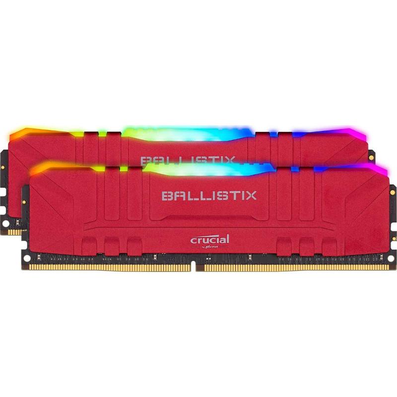 Crucial Ballistix BL2K8G36C16U4R 16GB (2x8GB) 3600 MHz RGB Rojo