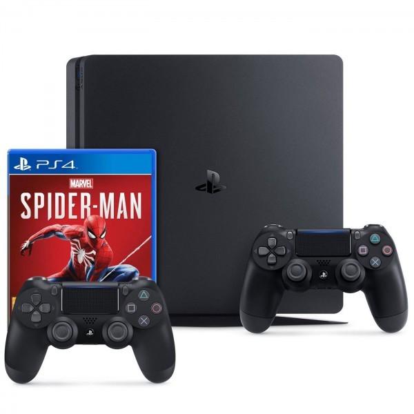 Sony PlayStation 4 Slim 1TB + Marvel's Spider-Man + Mando Extra