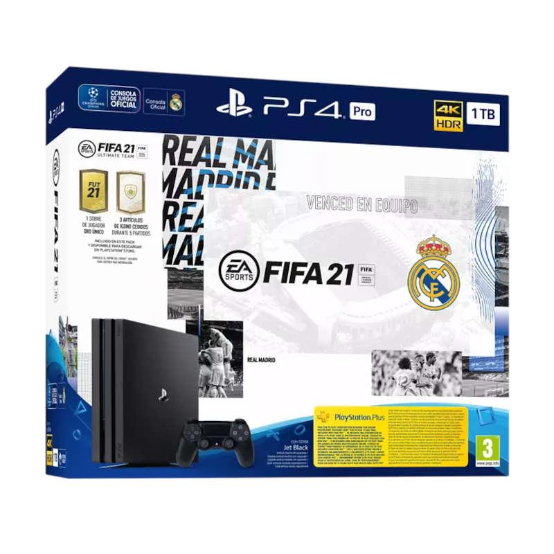 Sony PS4 Pro 1TB Edición Real Madrid + FIFA 21