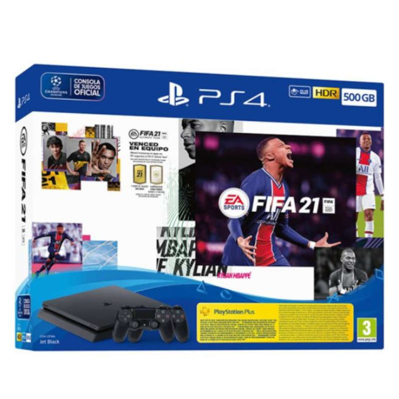 Sony PS4 Slim 500GB + FIFA 21 + DualShock 4