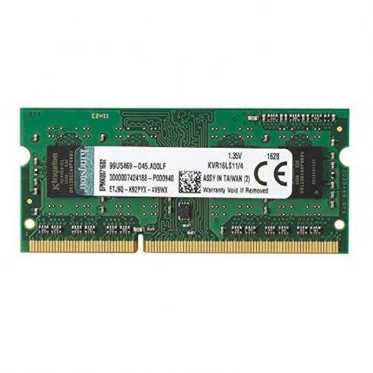 Memoria Kingston ValueRAM 4GB DDR3L 1600Mhz SODIMM 1.35V