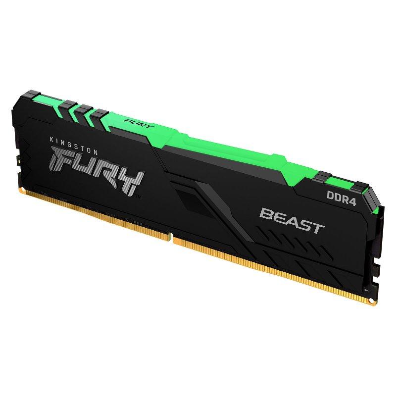 Memoria Kingston Fury Beast RGB 8GB DDR4 3600MHz CL17