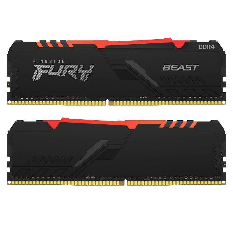 Memoria Kingston Fury Beast RGB 32GB (2x16GB) DDR4 3200MHz CL16