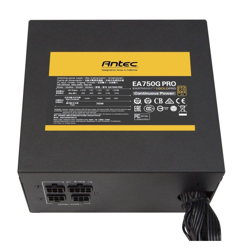 Fuente de Alimentación Modular Antec Earthwatts Pro 750 750W 80 Plus Gold