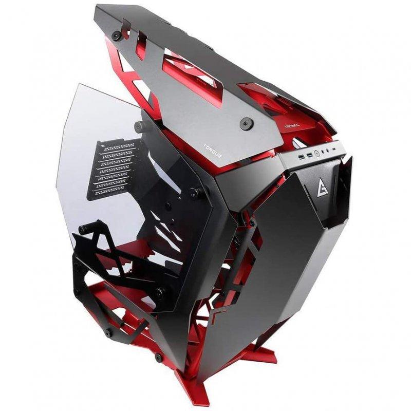 Caja PC Antec Torque Open Frame Cristal Templado E-ATX USB-C 3.1 Negra/Roja
