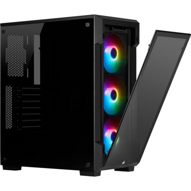 Caja PC ATX Corsair iCUE 220T RGB con Ventana Negro