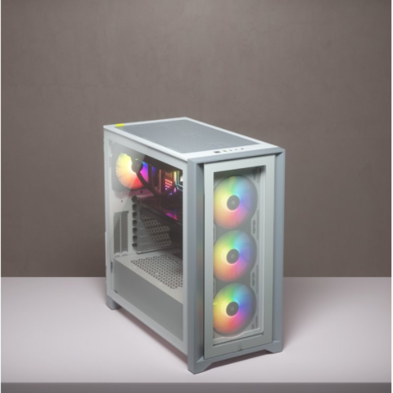 Caja PC Corsair ICUE 4000X ATX RGB Cristal Templado USB 3.0 Blanca