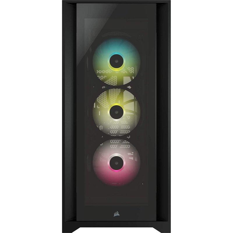 Caja PC Corsair ICUE 5000X ATX RGB Cristal Templado Negra