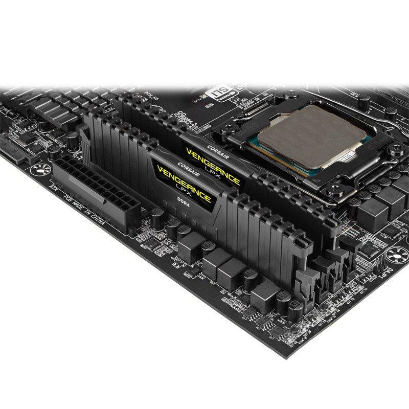 Memoria RAM Corsair Vengeance LPX 32GB (2x16GB) DDR4 2400MHz CL14, Negro