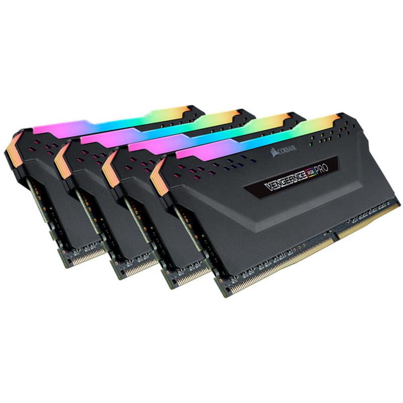 Memoria RAM Corsair Vengeance RGB Pro 32GB (4x8GB) DDR4 2666MHz CL16, Negro