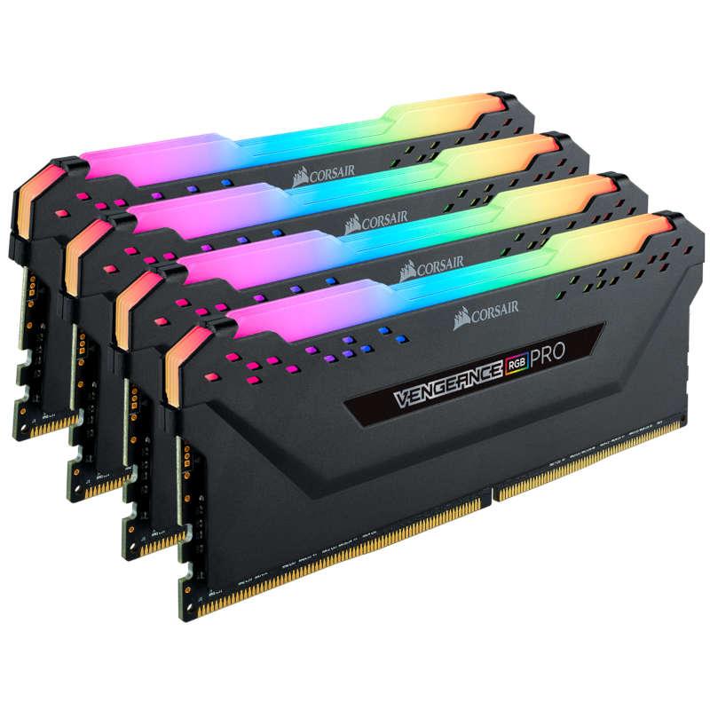 Kit Memoria Corsair Vengeance RGB Pro 64GB DDR4 3200MHz (4x16GB) Negro