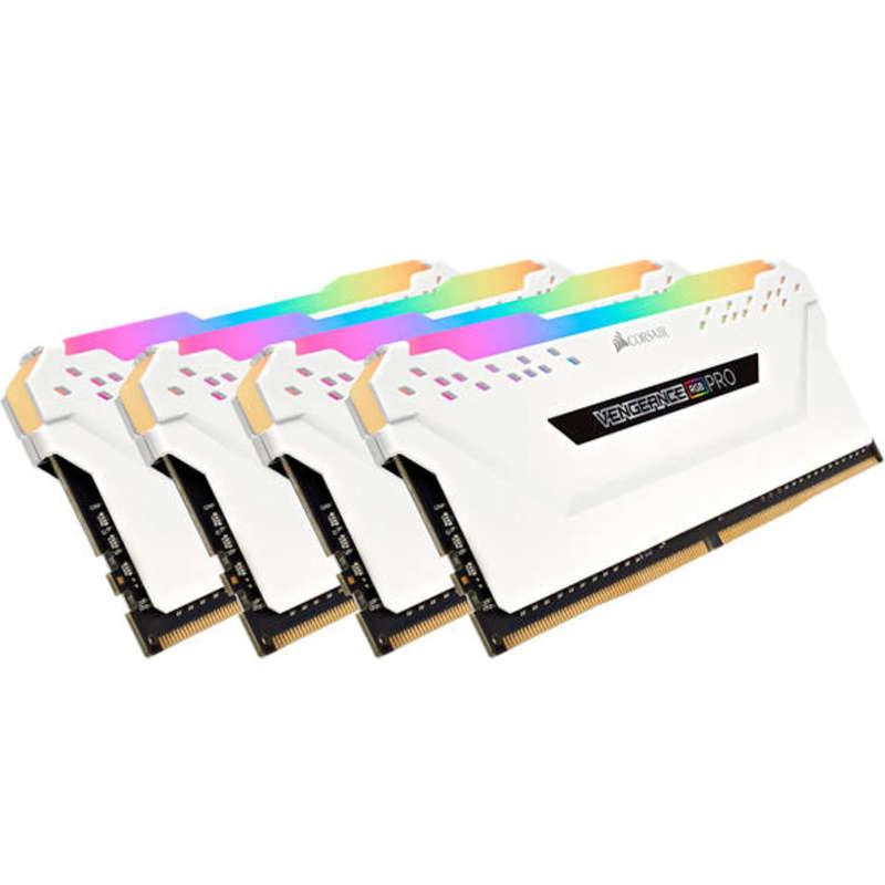 Kit Memoria Corsair Vengeance RGB Pro 64GB DDR4 3200MHz (4x16GB) Blanco