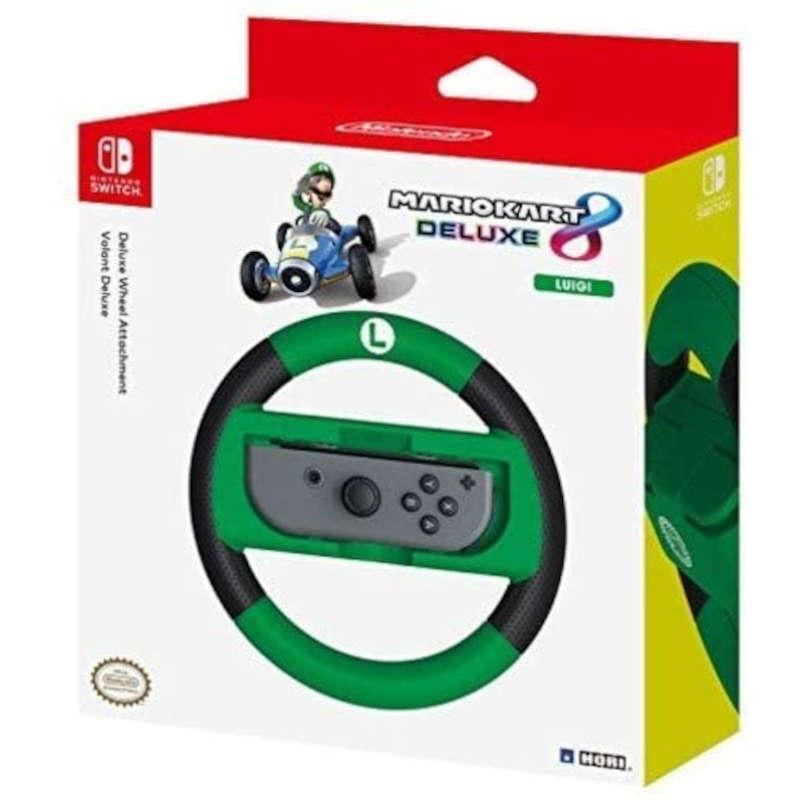 Nintendo Switch Volante Hori Mario Kart 8 Deluxe Racing Wheel edición Luigi