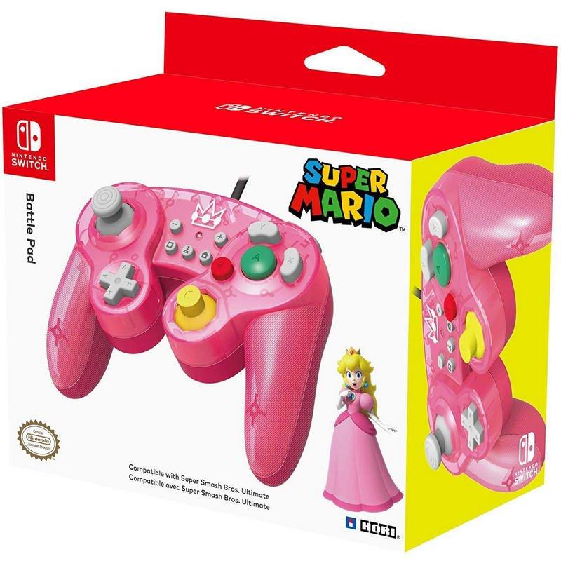 Nintendo Switch Mando Hori Battle Pad Peach