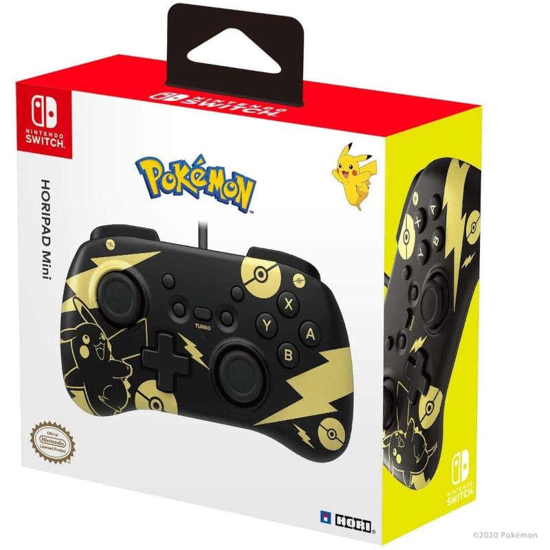 Mando Hori Controller Mini edición Pikachu Negro y Oro para Nintendo Switch