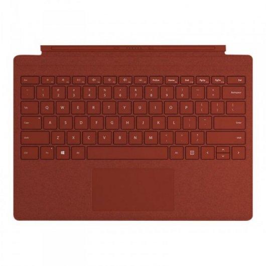 Teclado Microsoft Surface Pro Type Cover Rojo Amapola