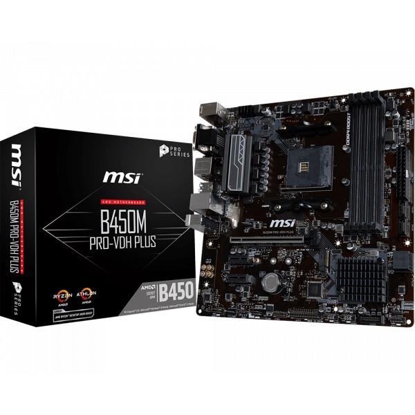 Placa Base MSI B450M PRO-VDH PLUS mATX AM4