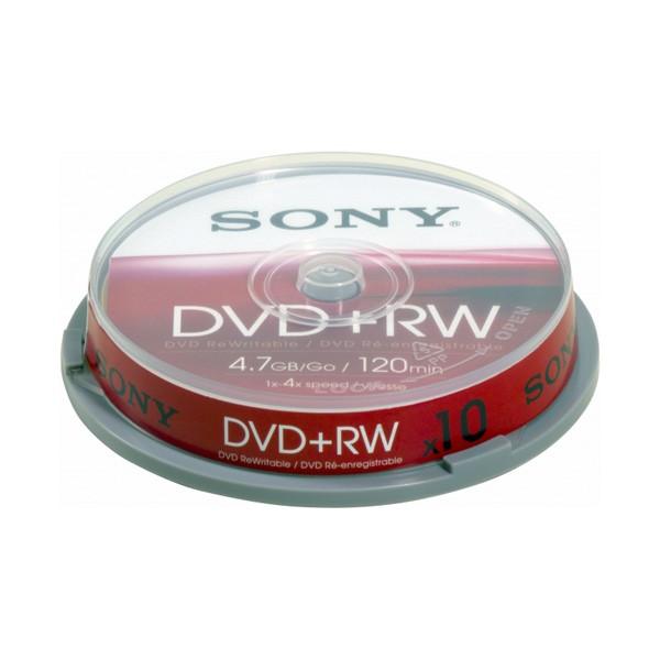 DVD+RW 4x SONY Tarrina 10 uds