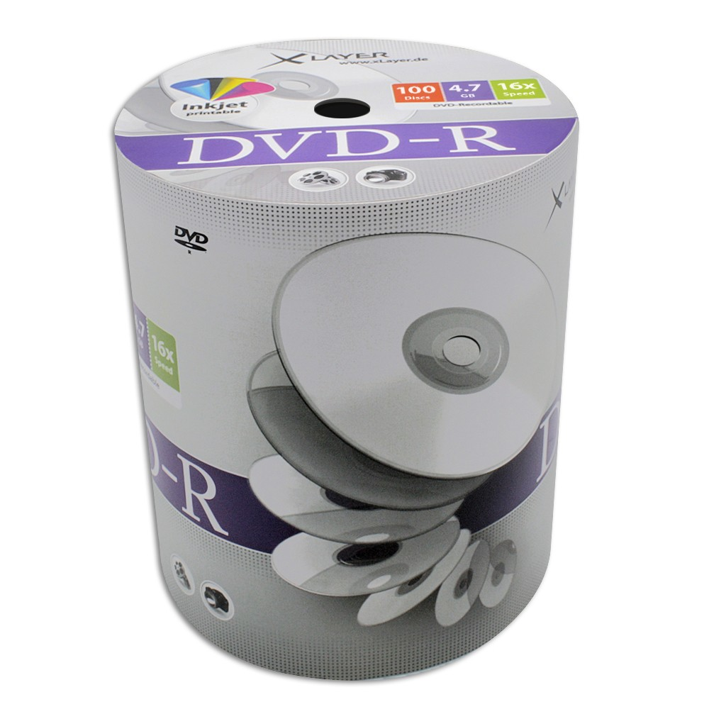 Dvd-R Xlayer 16x FullFace Printable 100 Uds (Cello)