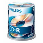 CD-R 52x 700MB Philips Tarrina 100 uds