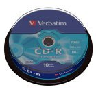 CD-R 52x 700MB Verbatim Extra Protection Tarrina 10 uds