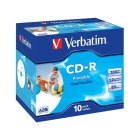 CD-R 52x FF Printable Verbatim AZO Caja Jewel 10 uds ID Branded