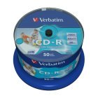 CD-R 52x FF Printable Verbatim AZO Tarrina 50 uds (no ID)