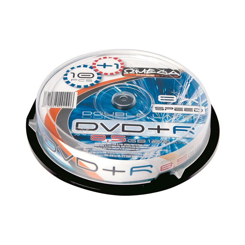 DVD+R Doble Capa 8x Freestyle Tarrina 10 uds +1 Gratis