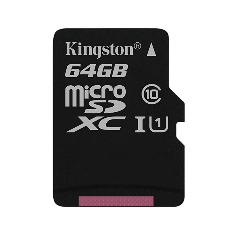 Tarjeta MicroSDXC 64GB Clase 10 UHS-I Kingston Canvas Select 80 MB/s