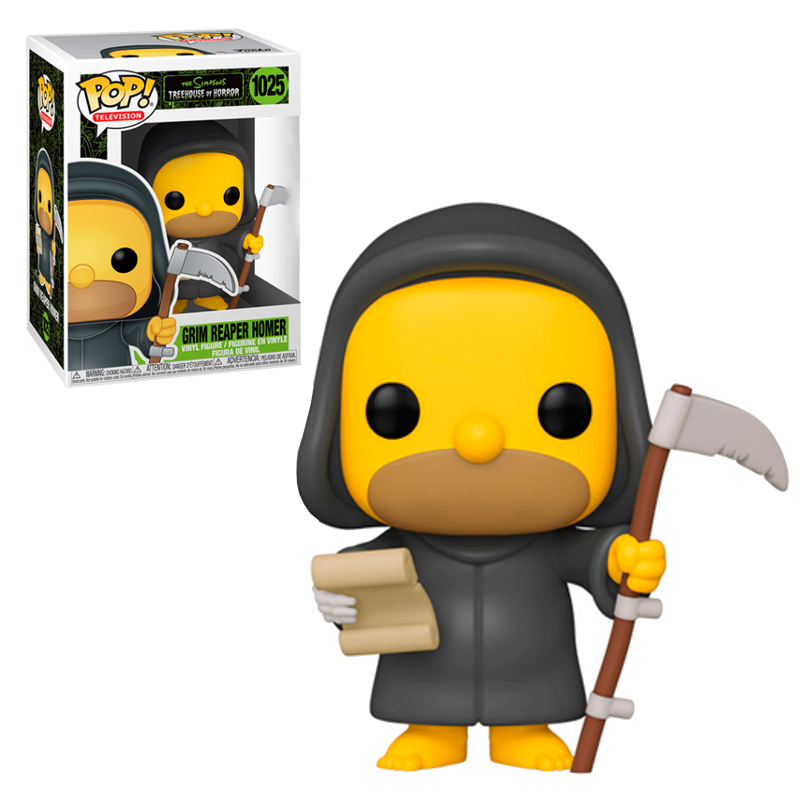 Funko pop the simpsons casa del arbol de los horrores homer muerte con guadaña