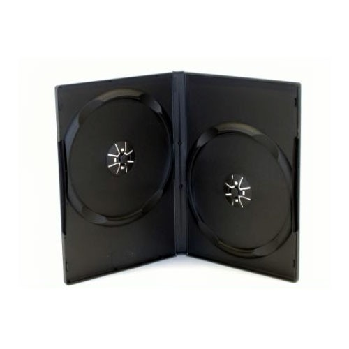 MediaRange Caja DVD Doble 14mm 50 uds - Negro