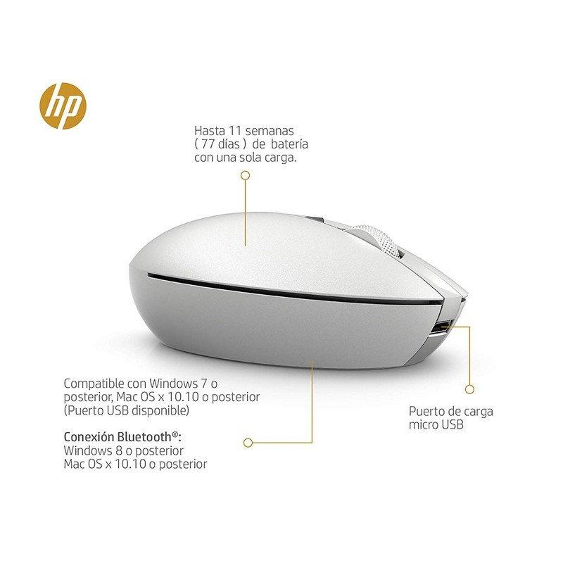 Ratón Inalámbrico HP Spectre 700 1200DPI Plata