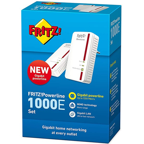 Kit PowerLine AVM FRITZ!Powerline 1000E Set