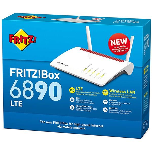 Router AC1750 4G ADSL/VDSL AVM FRITZ!Box 6890 LTE