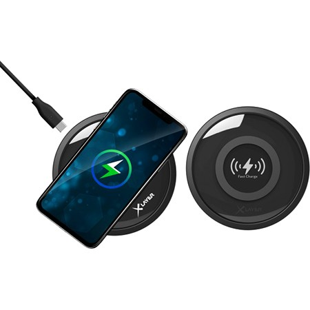 Cargador Inductivo XLayer Wireless Charging Pad 10W Black Smartphones/Tablets