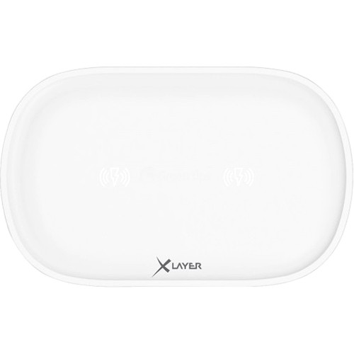 Cargador Inductivo XLayer Wireless Charging Pad Family Double White