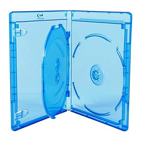 Caja BluRay Estandar 14mm - 3 Discos - MediaRange 30 uds