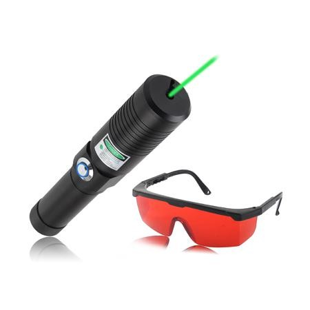 Puntero laser 3000mw verde 532nm con gafas de proteccion for Pointeur laser vert mw