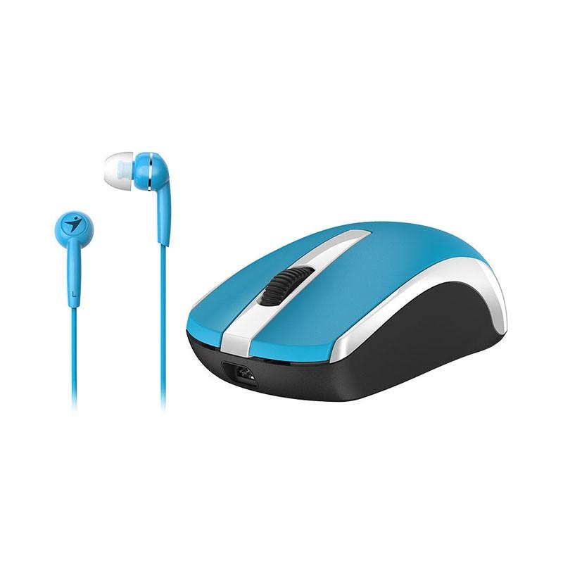 Ratón Inalámbrico + Auriculares Genius MH-8100 Azul 1600 DPI