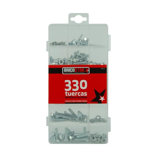 Caja con 330 Tuercas y Arandelas