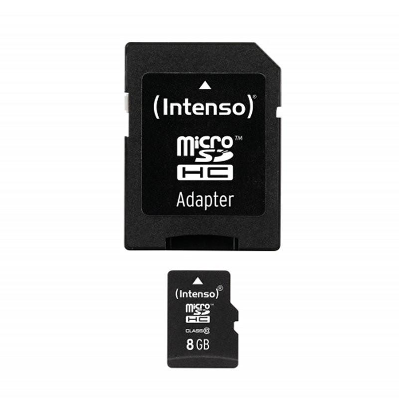 Tarjeta MicroSDHC 8GB Clase 10 Intenso 3413460 - c/adapt