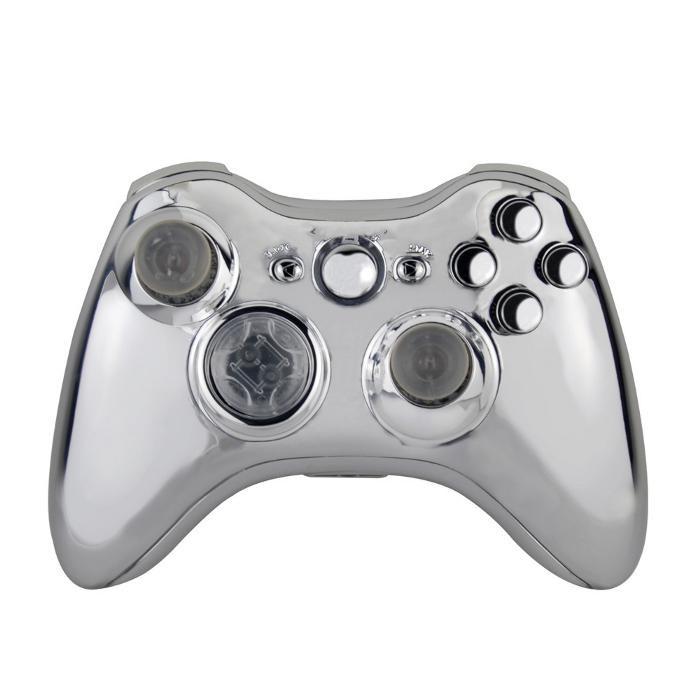 Xbox 360 Reemplazo Carcasa para Mando Inalambrico - Cromado