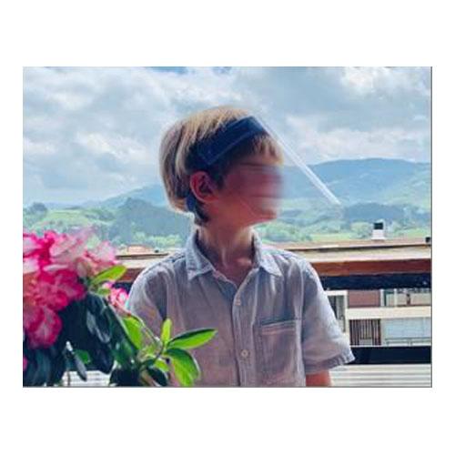 Pantalla Facial Ajustable para Niños Pardo Azul