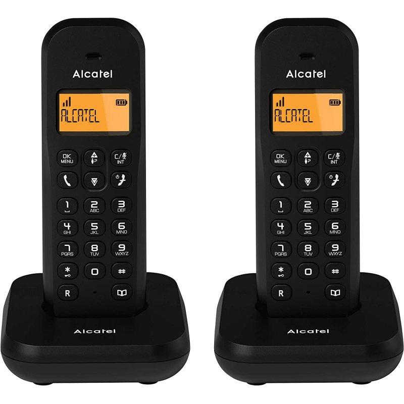 Teléfono Inalámbrico Alcatel E155 Duo Negro